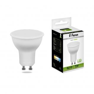 Светодиодная лампа Feron LB-26 (7W) 230V GU10 4000K матовая-8164305