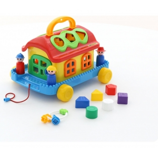 Сказочный домик на колёсиках (в сеточке) Полесье-37880019