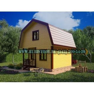Садовый дом по проекту СТТ-3, из обрезного бруса сечением 150 х 150 мм., площадь дома 56,8 кв.м, размер 6,0 х 6,0 м.-465245
