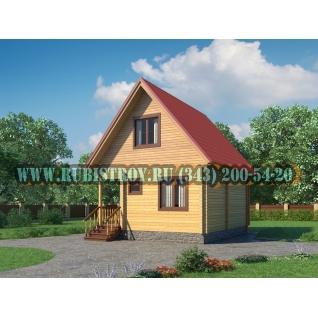 """Проект """"РУСЬ"""" из профилированного бруса 145 х 140 мм, размер 5,5 х 6,5, площадь дома 56 кв.м."""