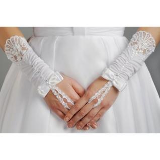 Перчатки свадебные №103, белый (короткие)-386197