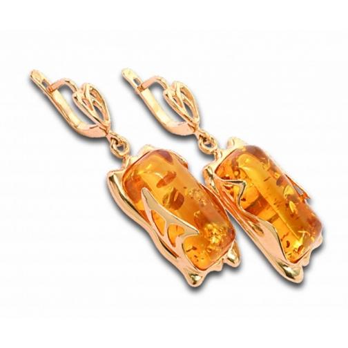 Серьги из серебра с янтарем БАЛТИЙСКОЕ ЗОЛОТО 82160019 82160019 БАЛТИЙСКОЕ ЗОЛОТО-8918512