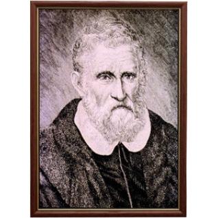 Портрет путешественника Марко Поло в рамке и со стеклом. 30х40-6434366