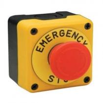 Пульт управления P1EC400E40-K однокнопочный, аварийная кнопка СТОП пульт ЕМАС