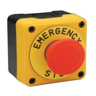 Пульт управления P1EC400E40-K однокнопочный, аварийная кнопка СТОП пульт ЕМАС-899618