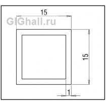 Штанга 15*15*1 мм нержавеющая сталь, квадрат L - 2000 mm