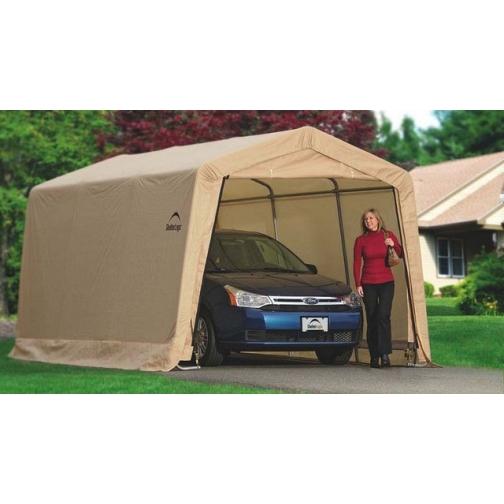 Тентовый гараж для дачи сборный 3х6,1х2,4 м ShelterLogic. Тент охра. ShelterLogic-2633