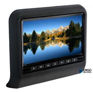 """Навесной монитор на подголовник с диагональю 9"""" и встроенным DVD плеером ERGO ER9L Ergo-833417"""