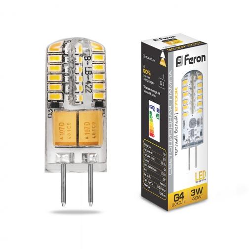 Светодиодная лампа Feron LB-422 (3W) 12V G4 2700K-8164392