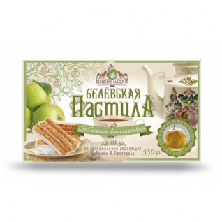Пастила Белёвская классическая без сахара, 350 г, коробка