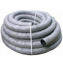Труба дренажная 160мм однослойная с перфорацией, в геотекстиле, черная (50м в бухте)