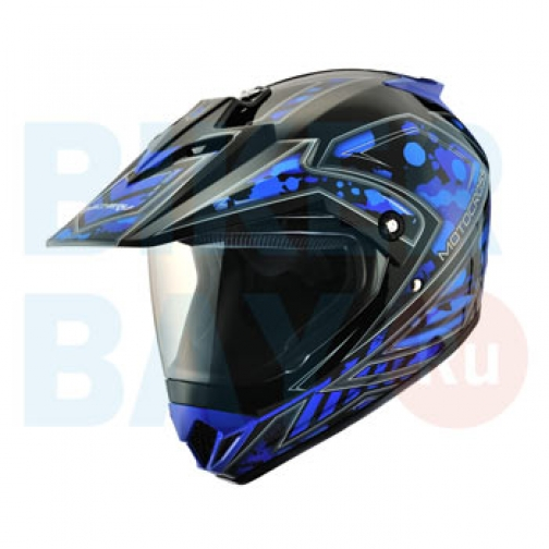 Шлем (кросс) MC 145 Splash Blue (Размер XS) MICHIRU-2156382