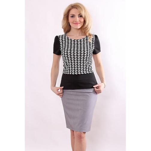 Блуза с коротким рукавом 50 размер-6682816