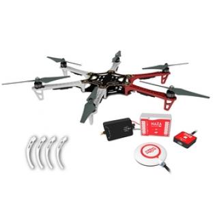Гексакоптер DJI F550 ARF kit (E305 на 6 роторов) + NAZA-M Lite + GPS Combo + PMU + LED (Комплект DUHPOLETA-14)-1972585