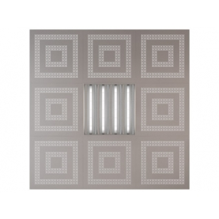 Потолочная плита Presko Эллада 59.5х59.5 металлик