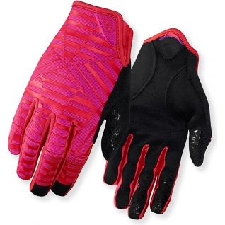 Перчатки LA DND, жен. длинные red/rhodamine, S