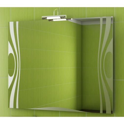Зеркало Vigo Wave 100 с подсветкой и стеклянной полкой-6794501