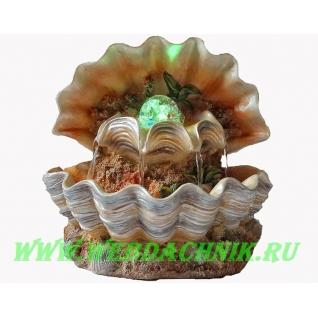 Декоративный фонтан | Настольный для дома | Ракушка и жемчужина-5255130