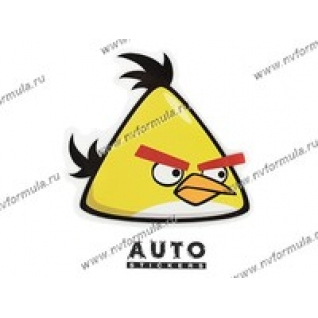 Наклейка Angry Birds желтая 15x15-431427
