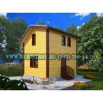 Дачный дом по проекту СТТ-43из обрезного бруса сечением 150 х 150 мм., площадь 127,0 кв.м., размер 8,0 х 10,0 м.