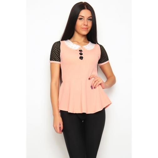 Блуза с баской 46 размер-6683362