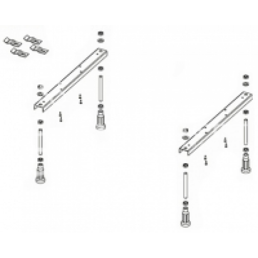 Ножки для ванны Riho Univerzal POOTSET01U 6922189