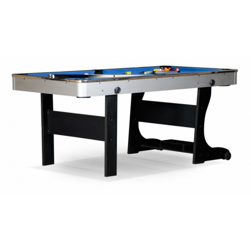 Бильярдный стол для пула Weekend Billiard Team II 6 ф серебристо-синий-7147617