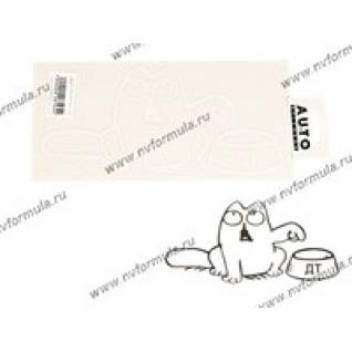 Наклейка Simon's cat ДТ левый белая 12х25-431483