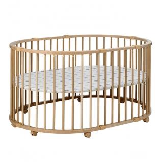Манеж Geuther Детский манеж-кроватка Geuther Baby-Parc натуральный (дно - белое со звездами)