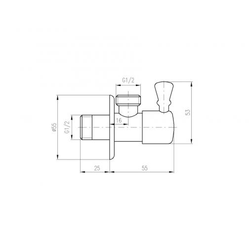 Вентиль с керамической головкой Rav Slezak ROH001 6760381 1