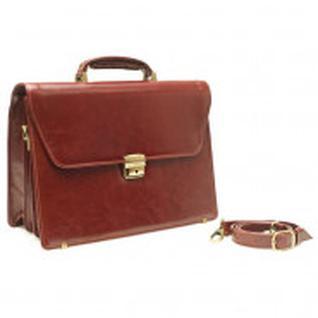 Портфель Grand натуральная кожа коньяк 01-033-0823