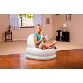 """Надувное кресло """"Мода"""", белое, 99 х 84 см Intex-37711786"""