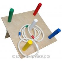 Кольцеброс наклонный с кольцами