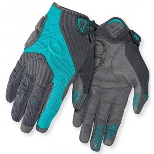 Перчатки XENA, жен. длинные GEL, char/dynasty green, S-2002748