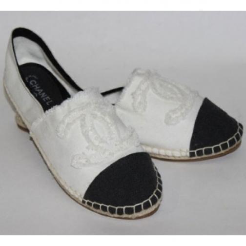 Эспадрильи Chanel White Black-903257