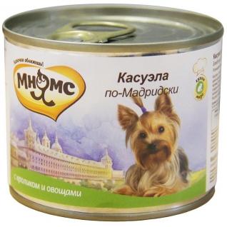 Мнямс Мнямс консервы для собак Касуэла по-Мадридски (кролик с овощами) 200 г