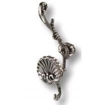 Крючок мебельный 4210.0170.094, двухрожковый, старое серебро