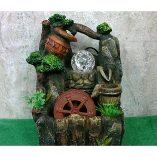 Декоративный фонтан | Настольный для дома | Мельница и шарик 28-5255011