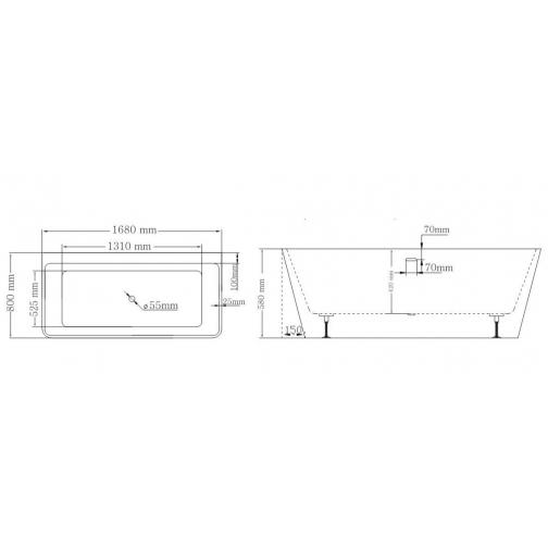 Отдельно стоящая ванна LAGARD Vela Brown wood 6944879 2
