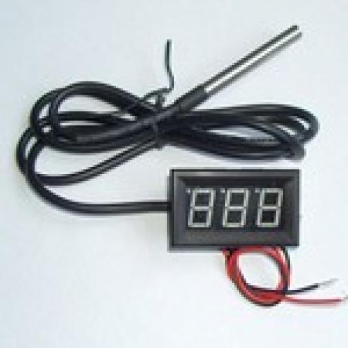 Термомерт цифровой панель -50..+125гр красный-862680