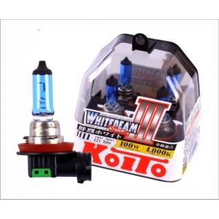 Лампы KOITO H11 Whitebeam 3 12V 55W 100W 4000K 2 шт. P0750W-9065444