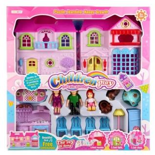 Дом для кукол, свет+звук, с мебелью и фигурками 8110B в кор. в кор.2*12шт-37794310