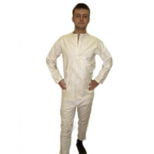 Белье нательное солдатское летнее белого цвета