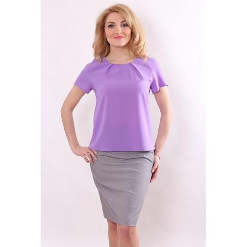 Блуза с коротким рукавом 52 размер-6686996