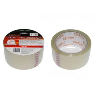 Скотч упаковочный прозрачный 48ммх50м STARTUL PROFI (ST9042-1-48-50) STARTUL
