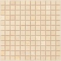 Мозаика из мрамора Botticino 23x23x4 мм матовая