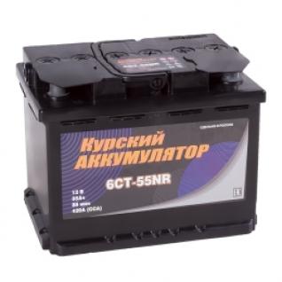 Автомобильный аккумулятор Курский Аккумулятор Курский 55R 420А обратная полярность 55 А/ч (242x175x190)