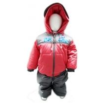 Комплект: куртка и полукомбинезон, Зимний, Красный