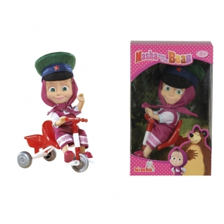 """Кукла """"Маша и Медведь"""" - Маша в фуражке с велосипедом Simba-37720986"""