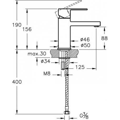 Однорычажный смеситель VitrA Flo S A41936 6650289 1